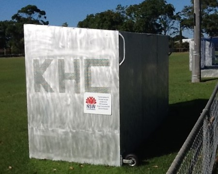 Image of new dugouts at Kingscliff Hockey Club